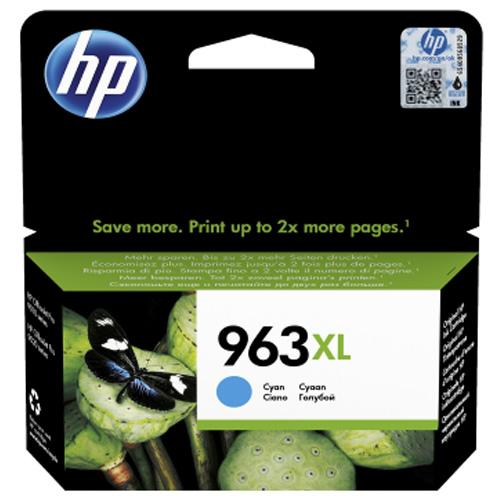 Original HP 963XL Cyan High Capacity Ink Cartridge (3JA27AE)