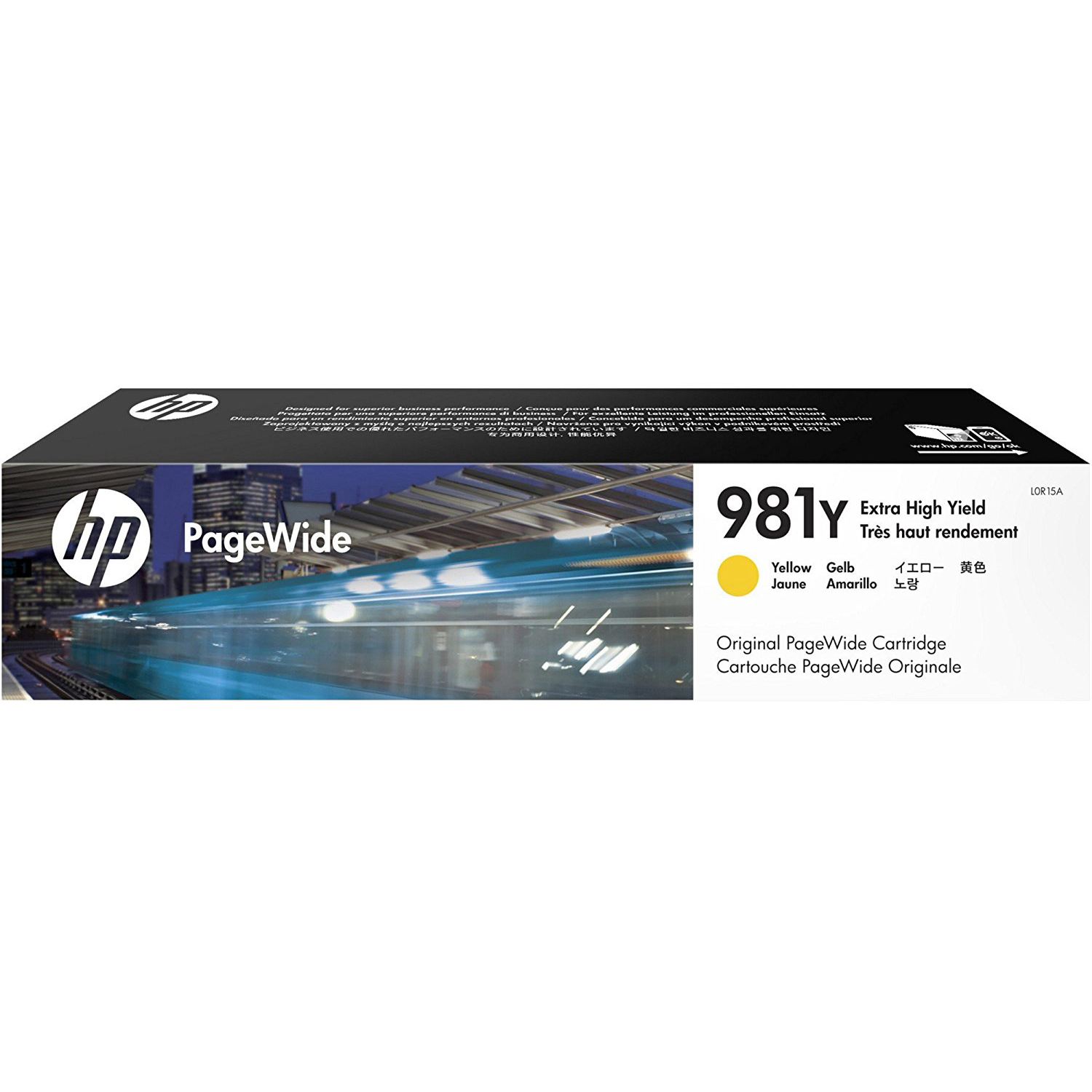 Original HP 981Y Yellow Extra High Capacity Ink Cartridge (L0R15A)