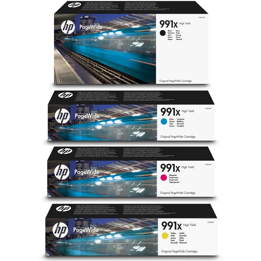 Original HP 991X CMYK Multipack High Capacity Ink Cartridges (M0K02AE/ M0J90AE/ M0J94AE/ M0J98AE)
