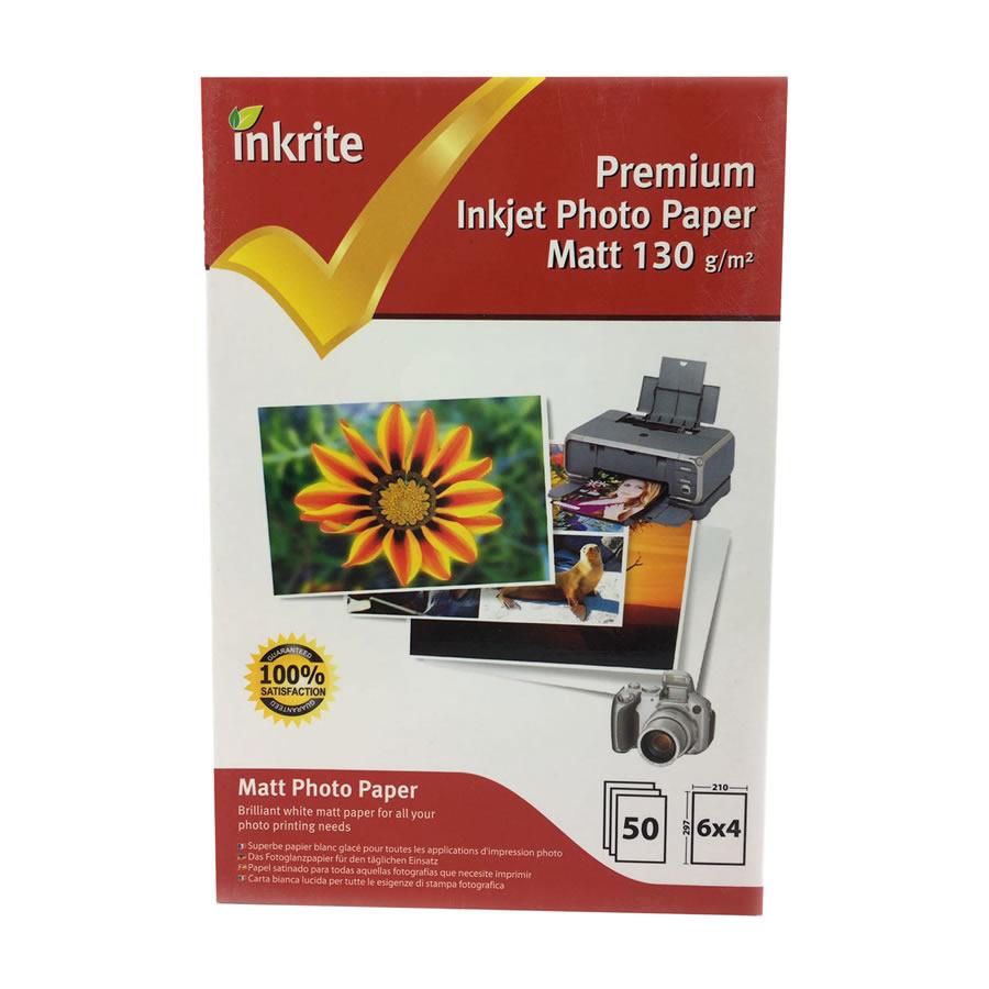 Original Inkrite PhotoPlus Professional Paper Matt 130gsm A6 6x4 - 50 sheets