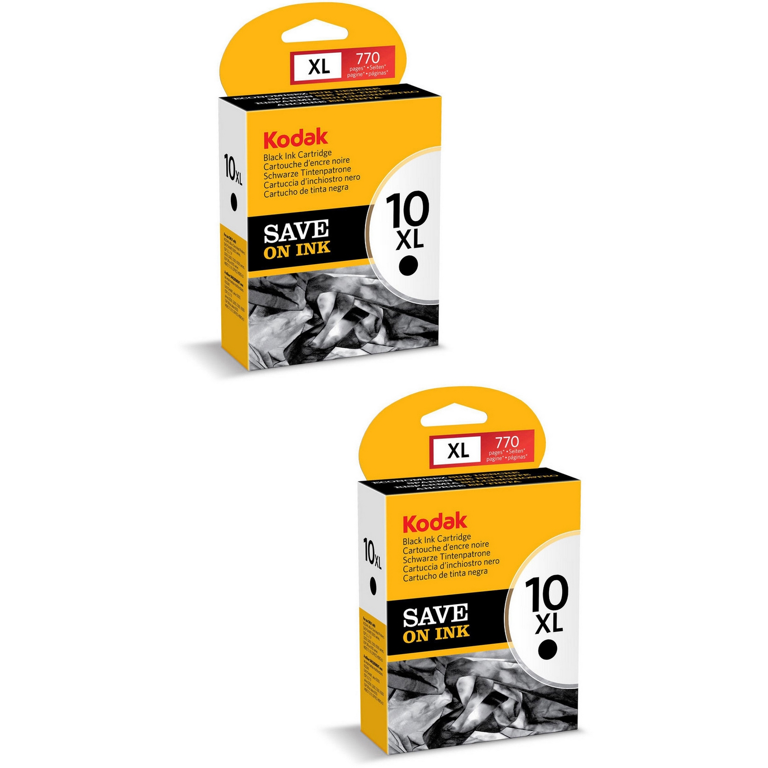 Original Kodak 10XL Black Twin Pack High Capacity Ink Cartridges (3949922)