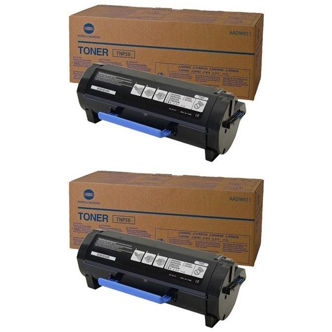 Original Konica Minolta TNP53 Black Twin Pack Toner Cartridges (AADW050)