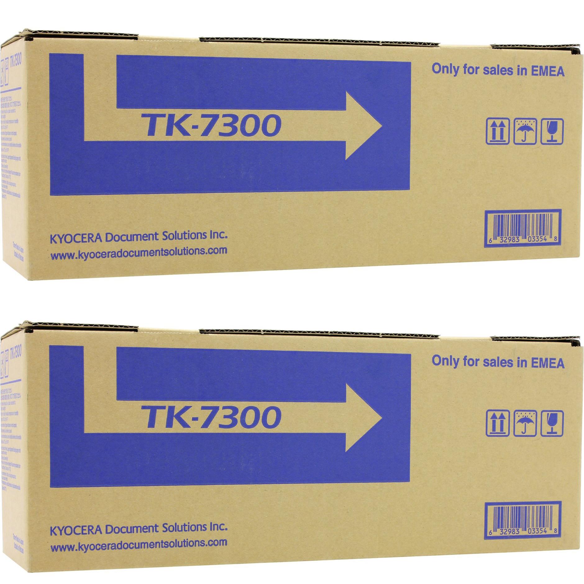 Original Kyocera 1T02P70NL0 Black Twin Pack Toner Cartridges (TK-7300)