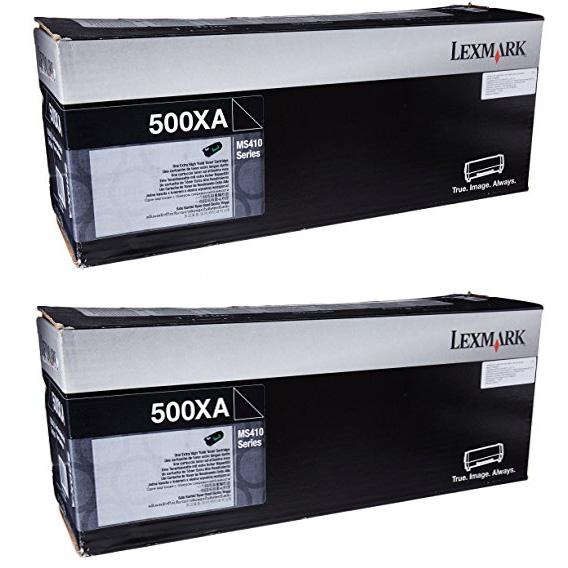 Original Lexmark 502X Black Twin Pack Extra High Capacity Toner Cartridges (50F0XA0)