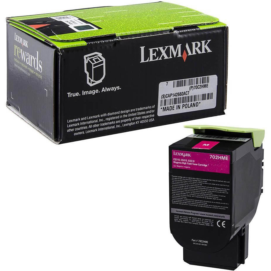 Original Lexmark 702HY Yellow High Capacity Toner Cartridge (70C2HYE)