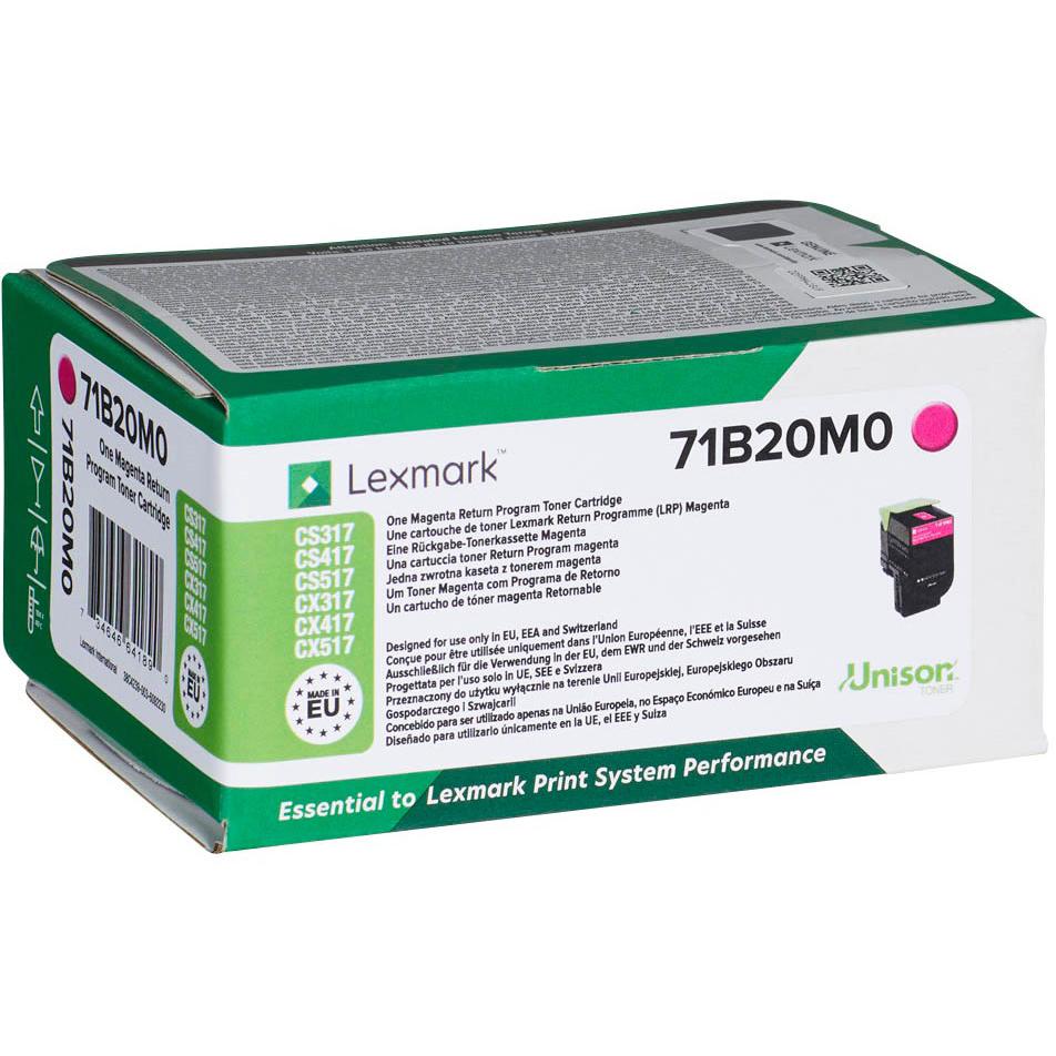 Original Lexmark 71B20M0 Magenta Toner Cartridge (71B20M0)