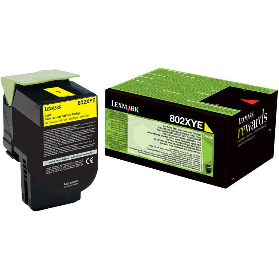 Original Lexmark 802HY Yellow High Capacity Toner Cartridge (80C2HYE)