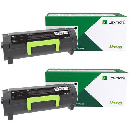 Original Lexmark B222X00 Black Twin Pack Extra High Capacity Toner Cartridges (B222X00)