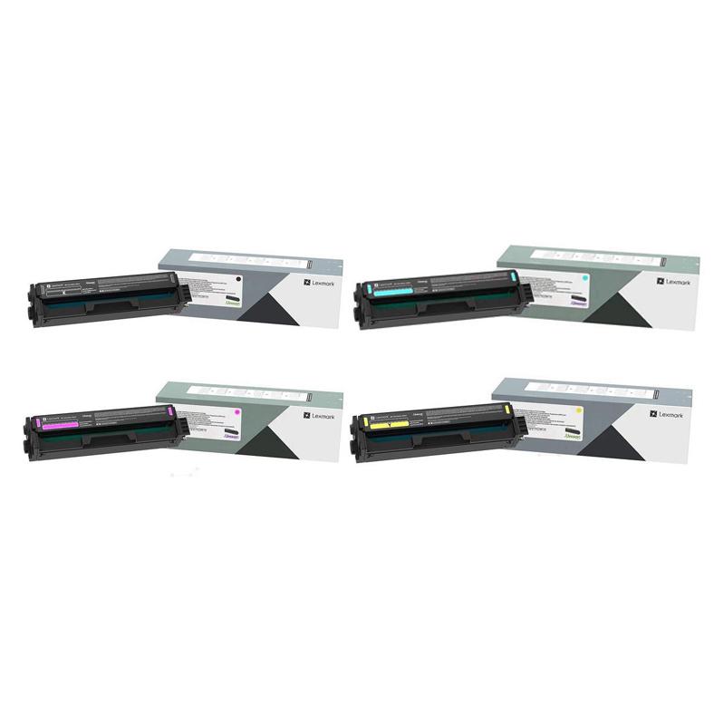 Original Lexmark C3220 CMYK Multipack Toner Cartridges (C3220K0/ C3220C0/ C3220M0/ C3220Y0)