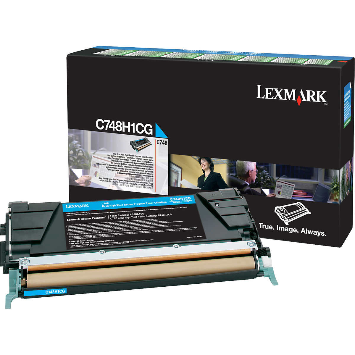 Original Lexmark C748H1CG Cyan High Capacity Toner Cartridge (C748H3CG)