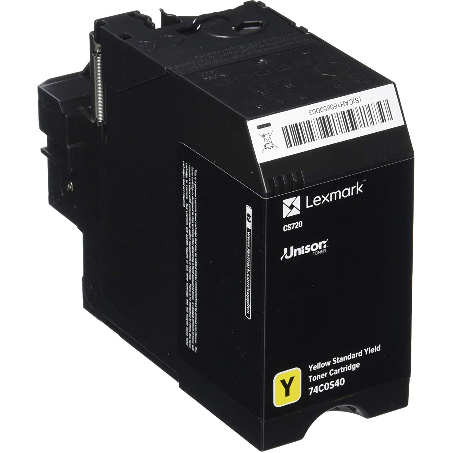 Original Lexmark Cs720 Yellow Standard Yield Toner Ca (74C0S40)