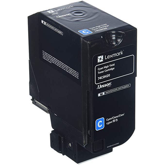 Original Lexmark 74C0H20 Cyan High Capacity Toner Cartridge (74C0H20)