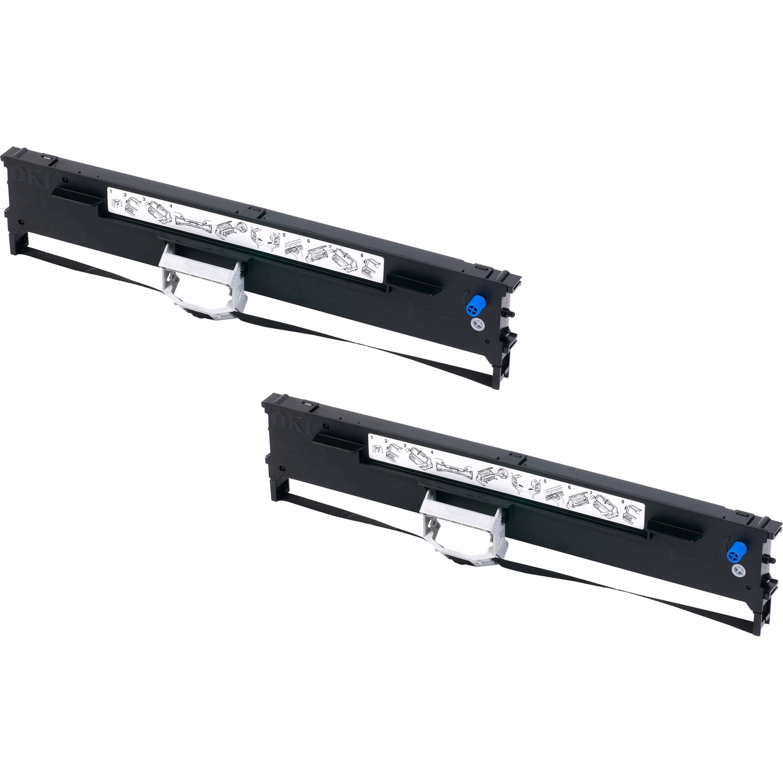Original OKI 43503601 Black Twin Pack Flatbed Ink Ribbons (43503601)