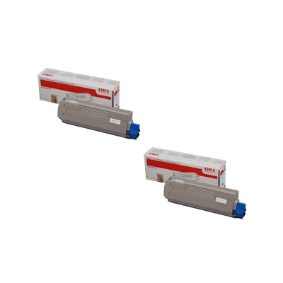 Original OKI 44059256 Black Twin Pack Toner Cartridges (44059256)