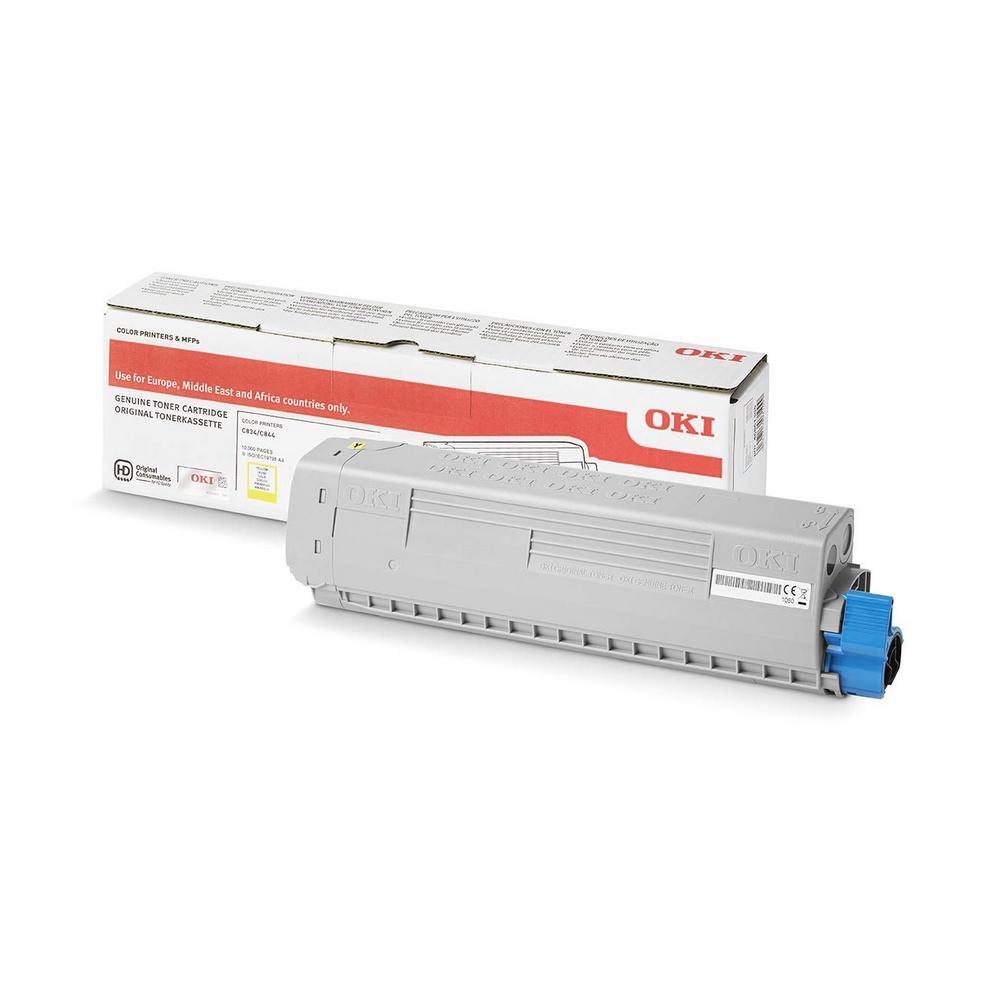 Original OKI 46861305 Yellow High Capacity Toner Cartridge (46861305)