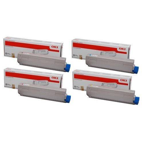 Original Oki 4686130 CMYK Multipack High Capacity Toner Cartridges (46861308/ 46861307/ 46861306/ 46861305)