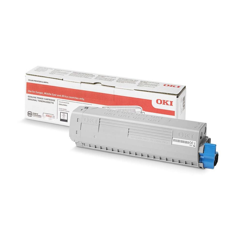 Original Oki 46861308 Black High Capacity Toner Cartridge (46861308)