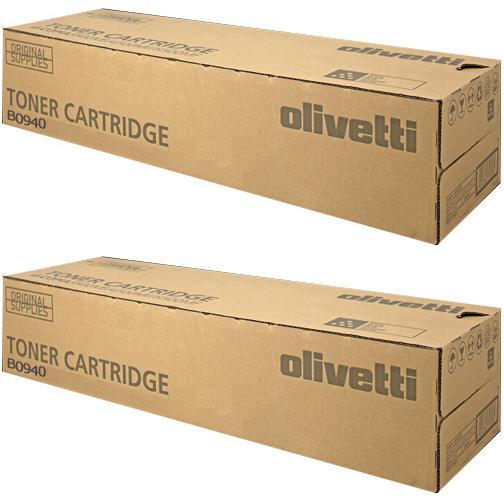 Original Olivetti B0940 Black Twin Pack Toner Cartridges (B0940)