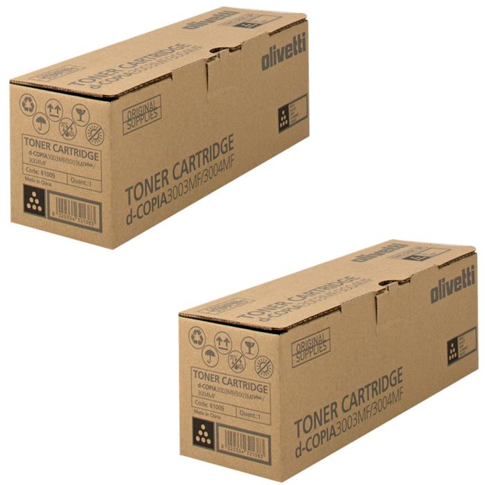 Original Olivetti B1009 Black Twin Pack Toner Cartridges (B1009)