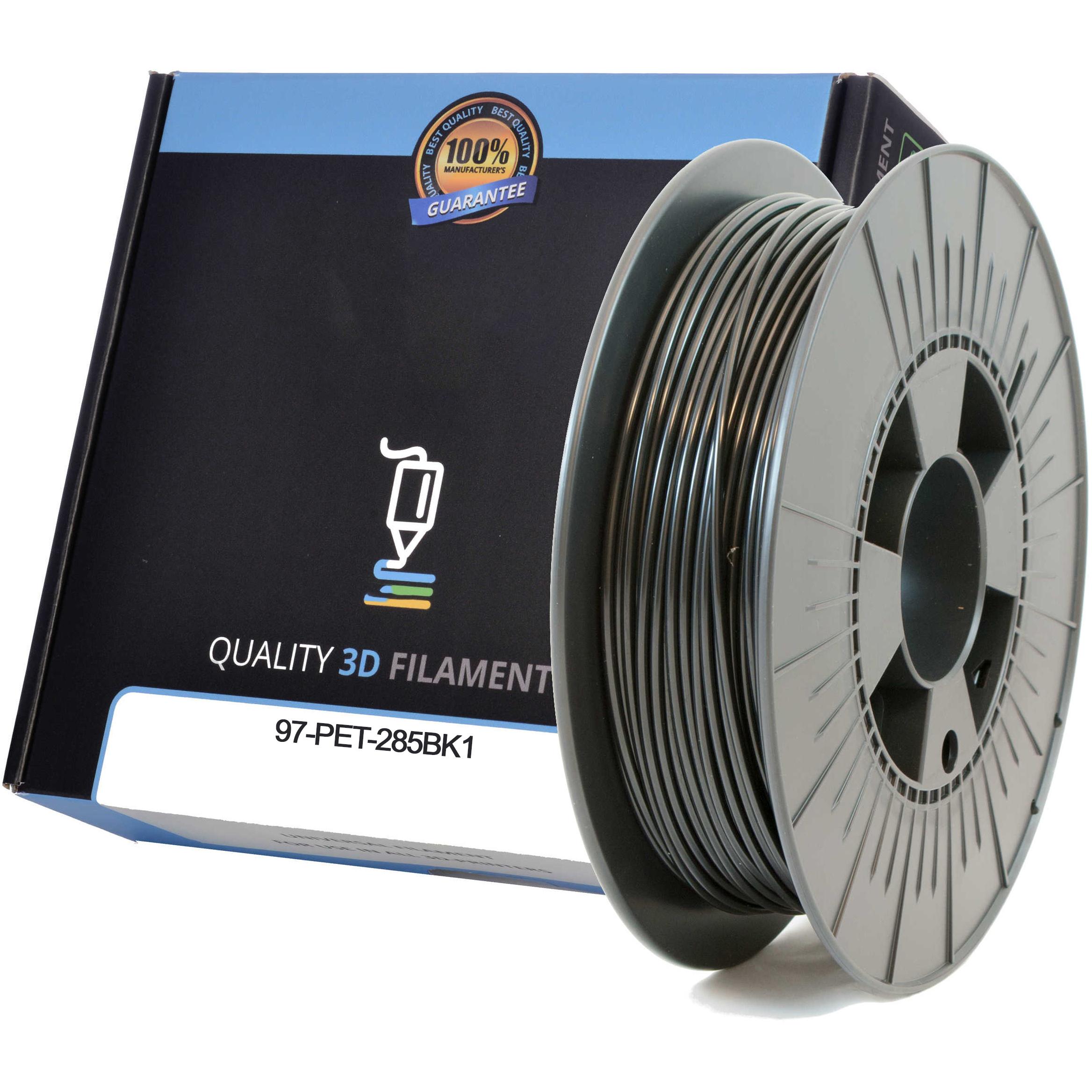 Premium Compatible PETG 2.85mm Black 1kg 3D Filament (97-PET-285BK1)