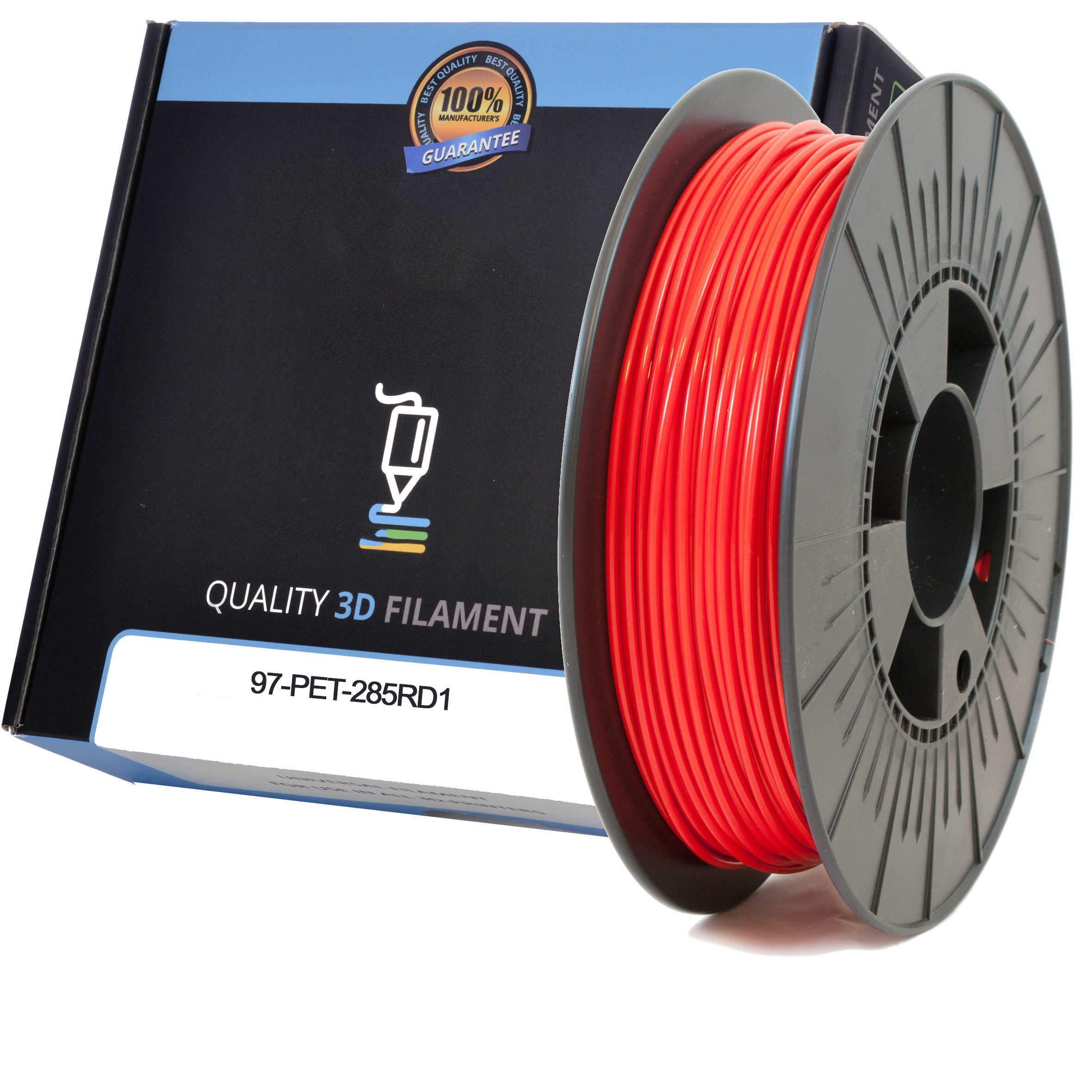 Premium Compatible PETG 2.85mm Red 1kg 3D Filament (97-PET-285RD1)