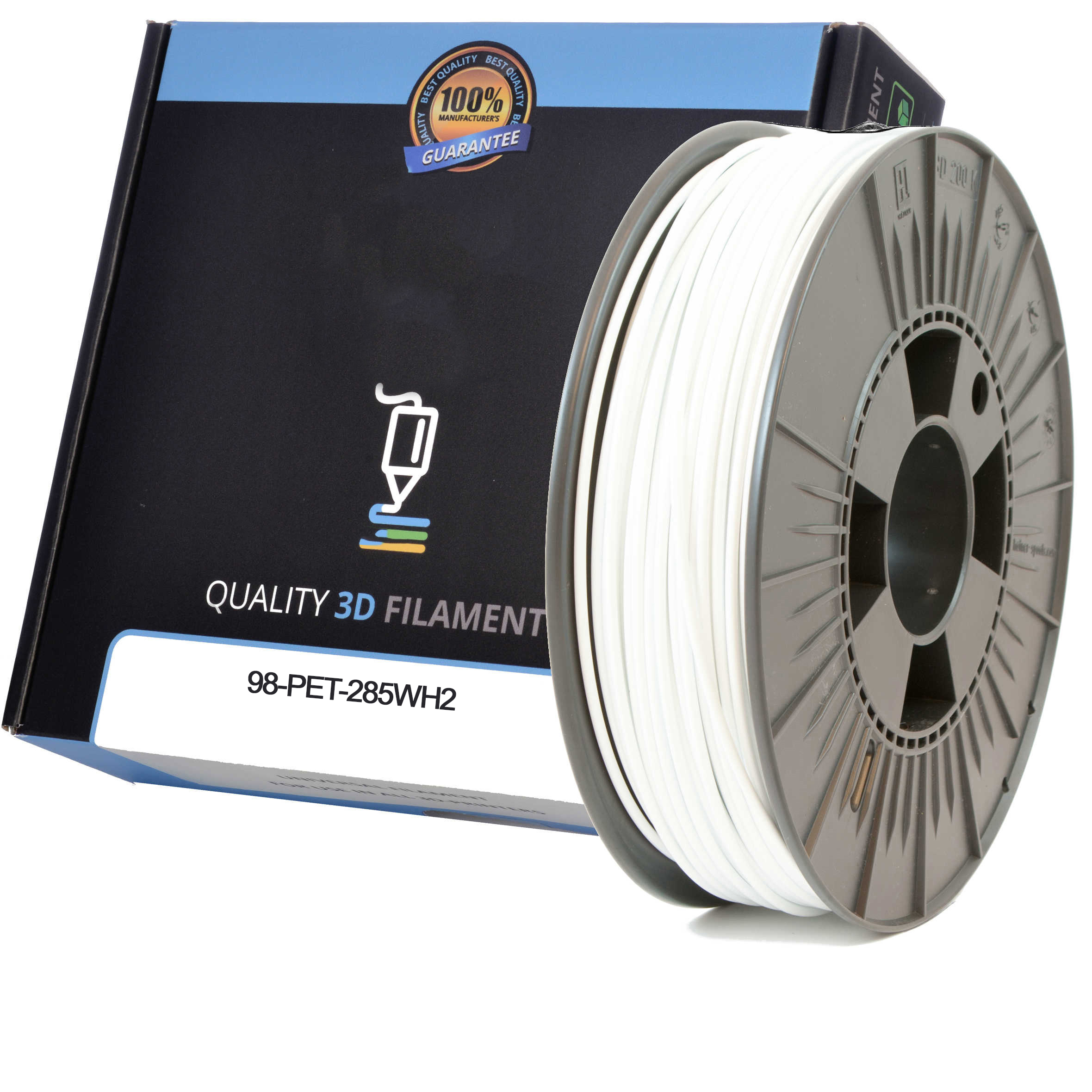 Premium Compatible PETG 2.85mm Snow White 0.5kg 3D Filament (98-PET-285WH2)