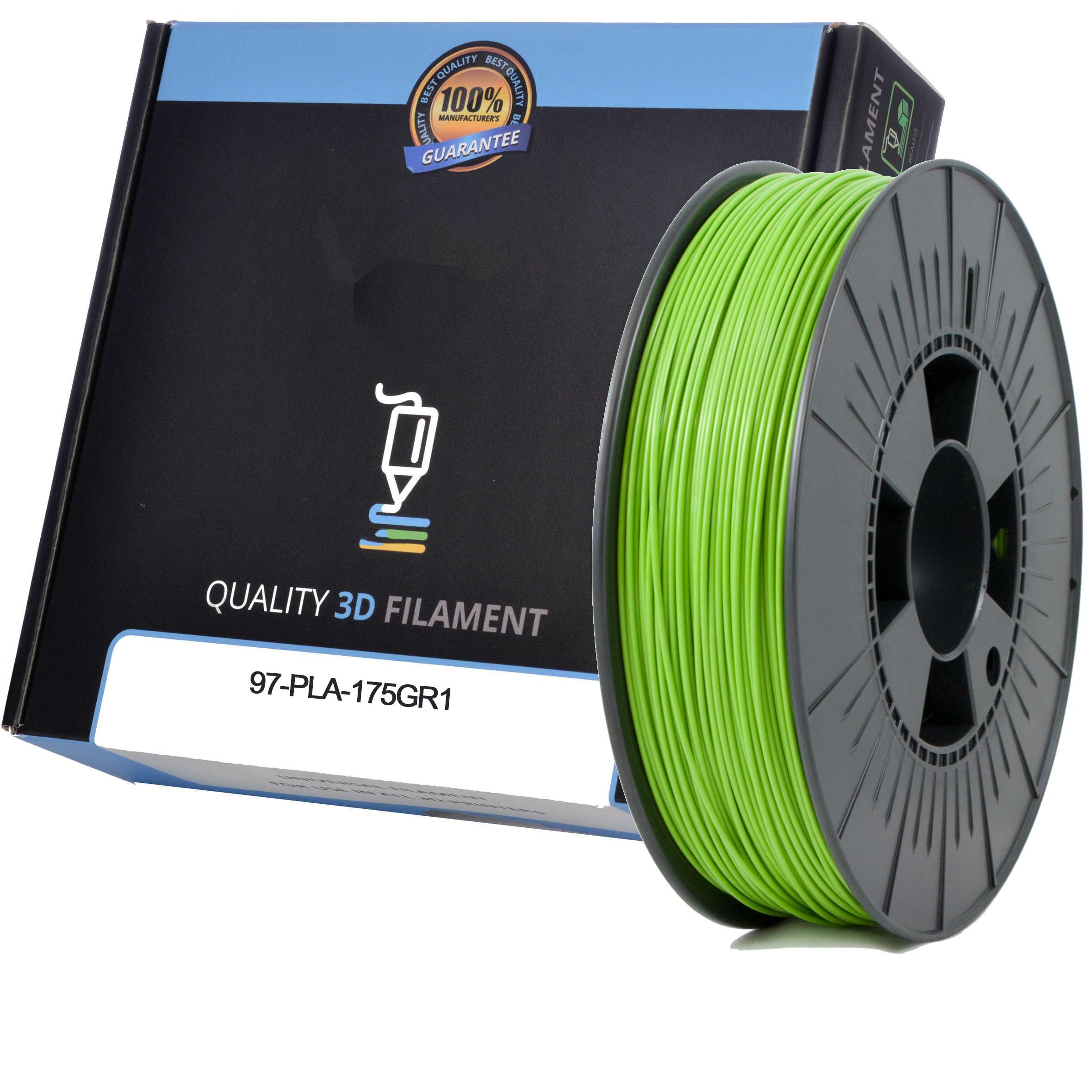 Premium Compatible PLA 1.75mm Apple Green 1kg 3D Filament (97-PLA-175GR1)
