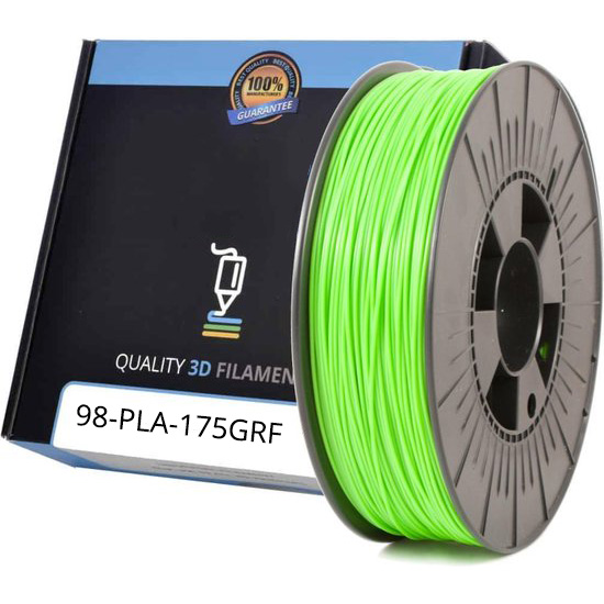 Premium Compatible PLA 1.75mm Green Fluor 1kg 3D Filament (PLA175GRF)