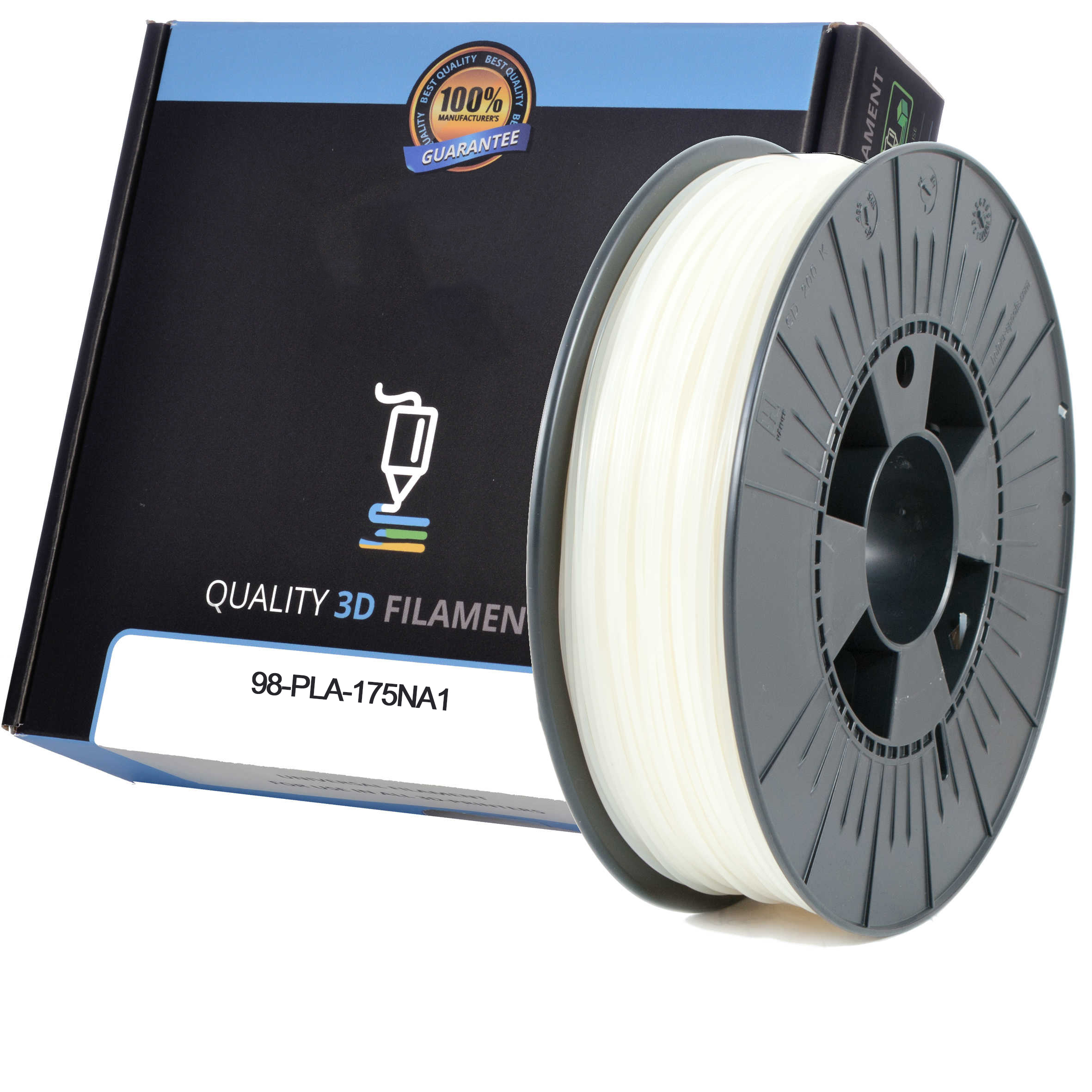 Premium Compatible PLA 1.75mm Natural 0.5kg 3D Filament (98-PLA-175NA1)