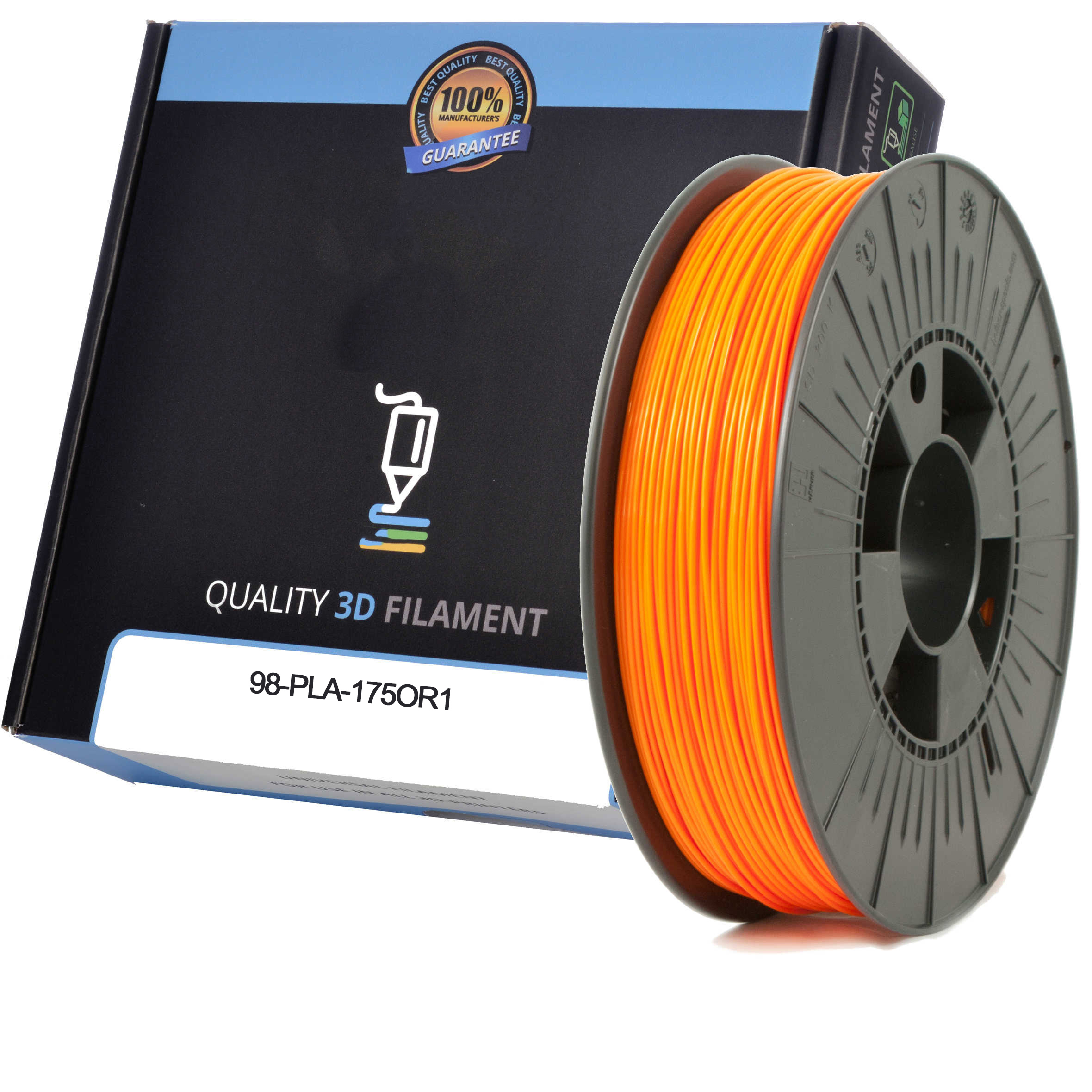 Premium Compatible PLA 1.75mm Orange 0.5kg 3D Filament (98-PLA-175OR1)