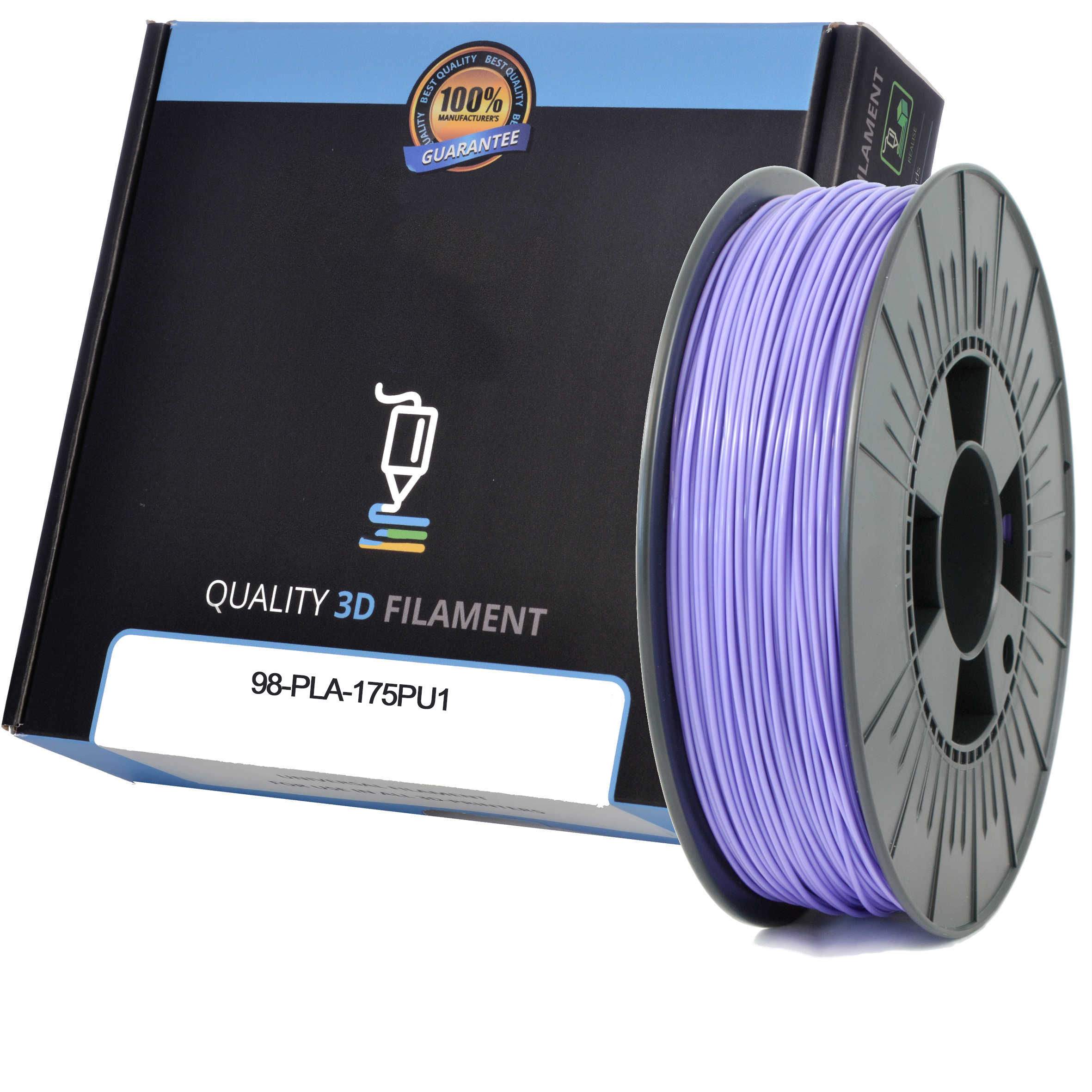 Premium Compatible PLA 1.75mm Purple 0.5kg 3D Filament (98-PLA-175PU1)