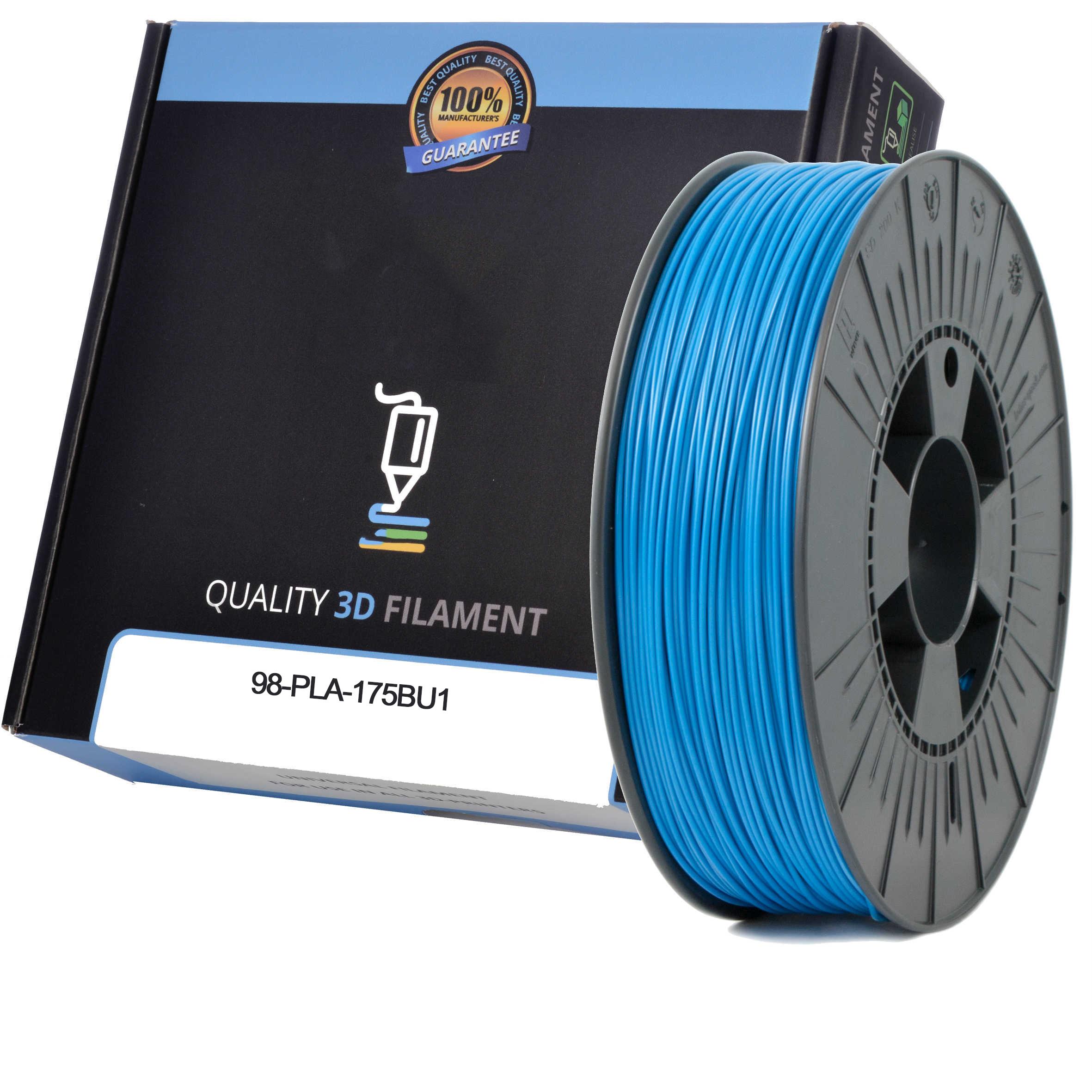 Premium Compatible PLA 1.75mm Sky Blue 0.5kg 3D Filament (98-PLA-175BU1)