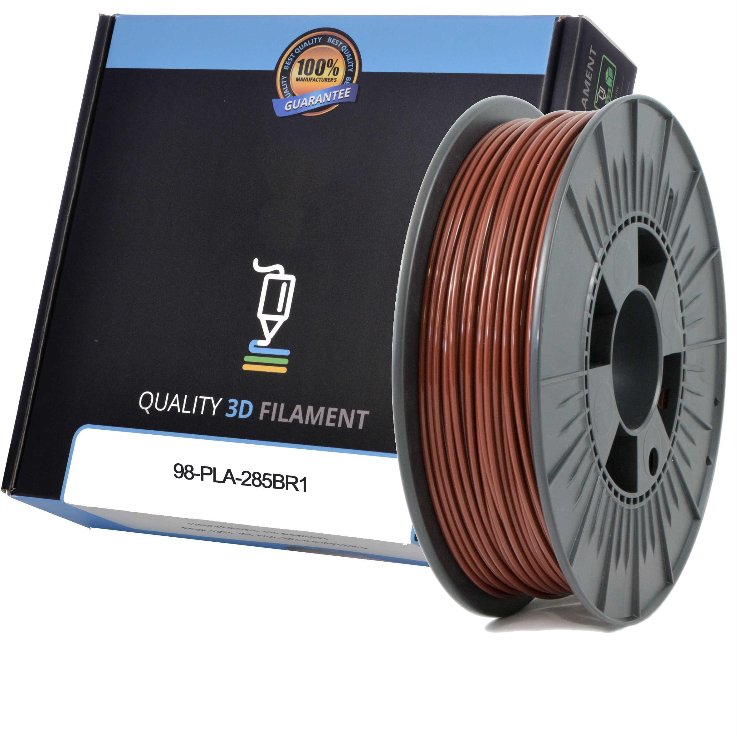 Premium Compatible PLA 2.85mm Brown 0.5kg 3D Filament (98-PLA-285BR1)