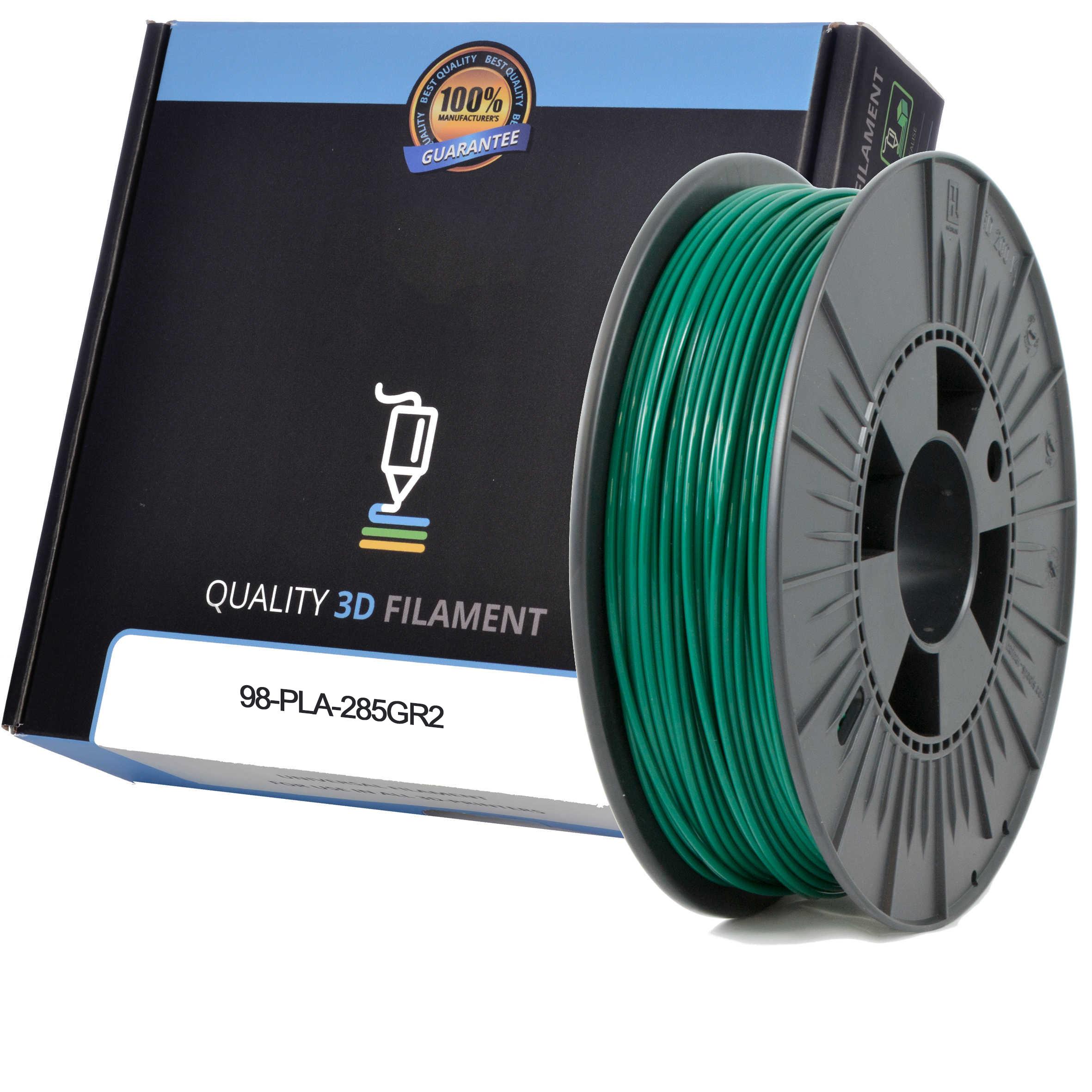 Premium Compatible PLA 2.85mm Dark Green 0.5kg 3D Filament (98-PLA-285GR2)
