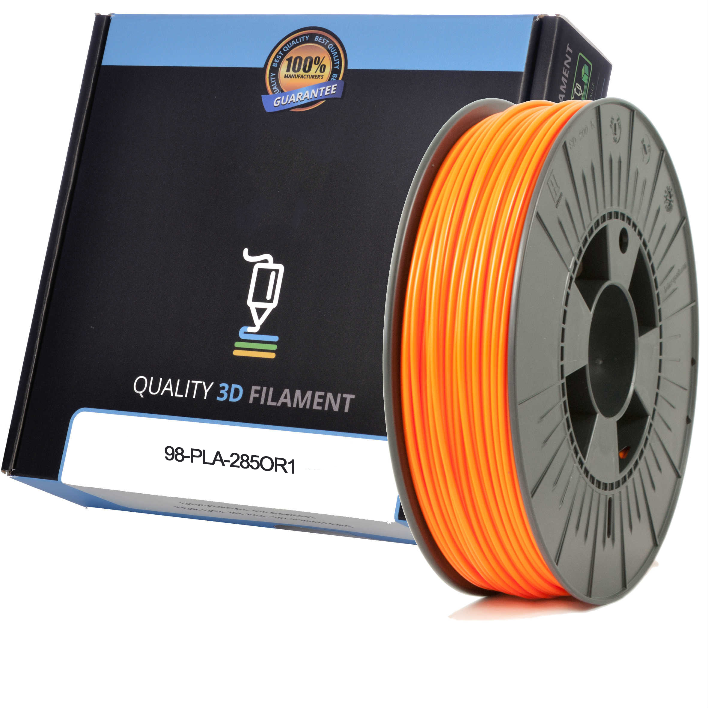 Premium Compatible PLA 2.85mm Orange 0.5kg 3D Filament (98-PLA-285OR1)