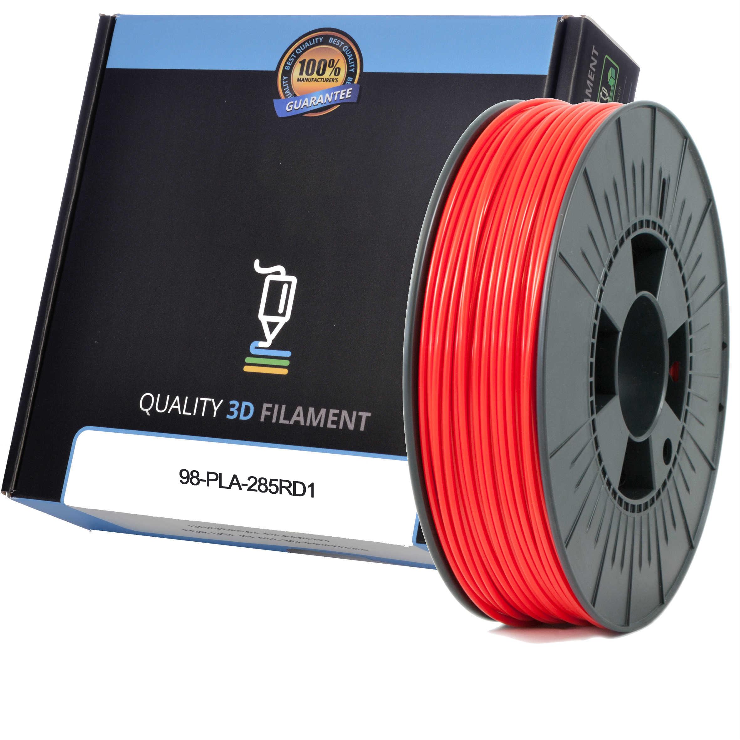 Premium Compatible PLA 2.85mm Red 0.5kg 3D Filament (98-PLA-285RD1)