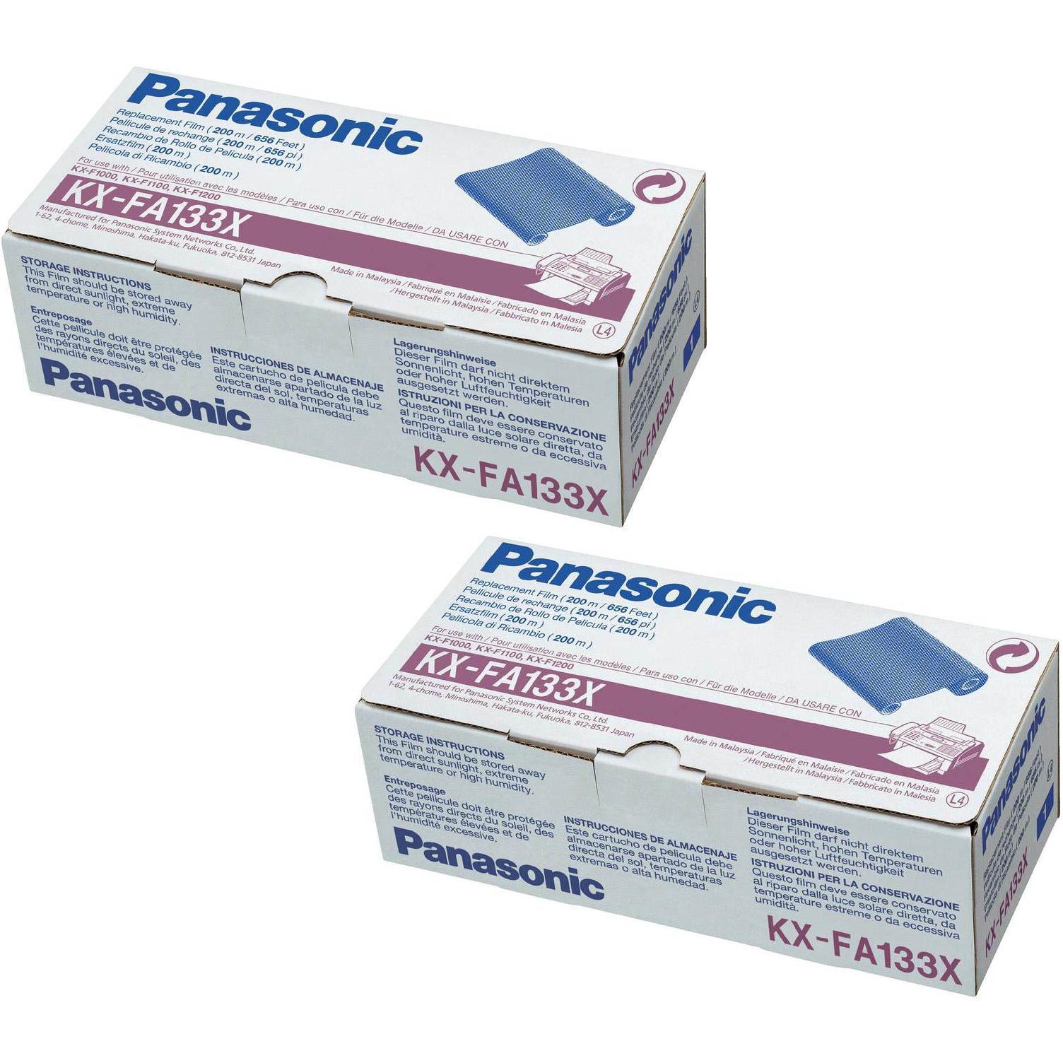 Original Panasonic KX-FA133 Black Twin Pack Ink Film Ribbons (KX-FA133X)