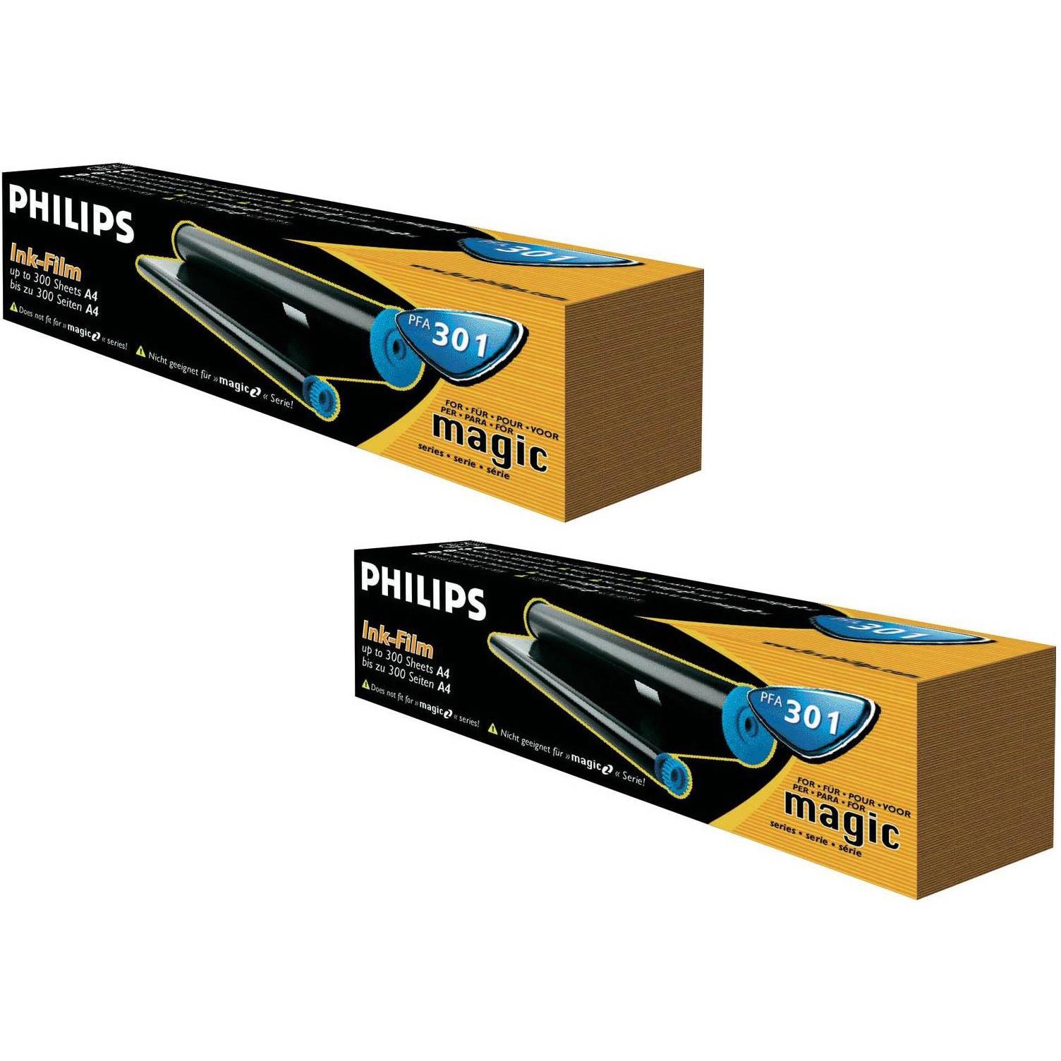 Original Philips PFA301 Black Twin Pack Ink Film Thermal Ribbons (PFA301)