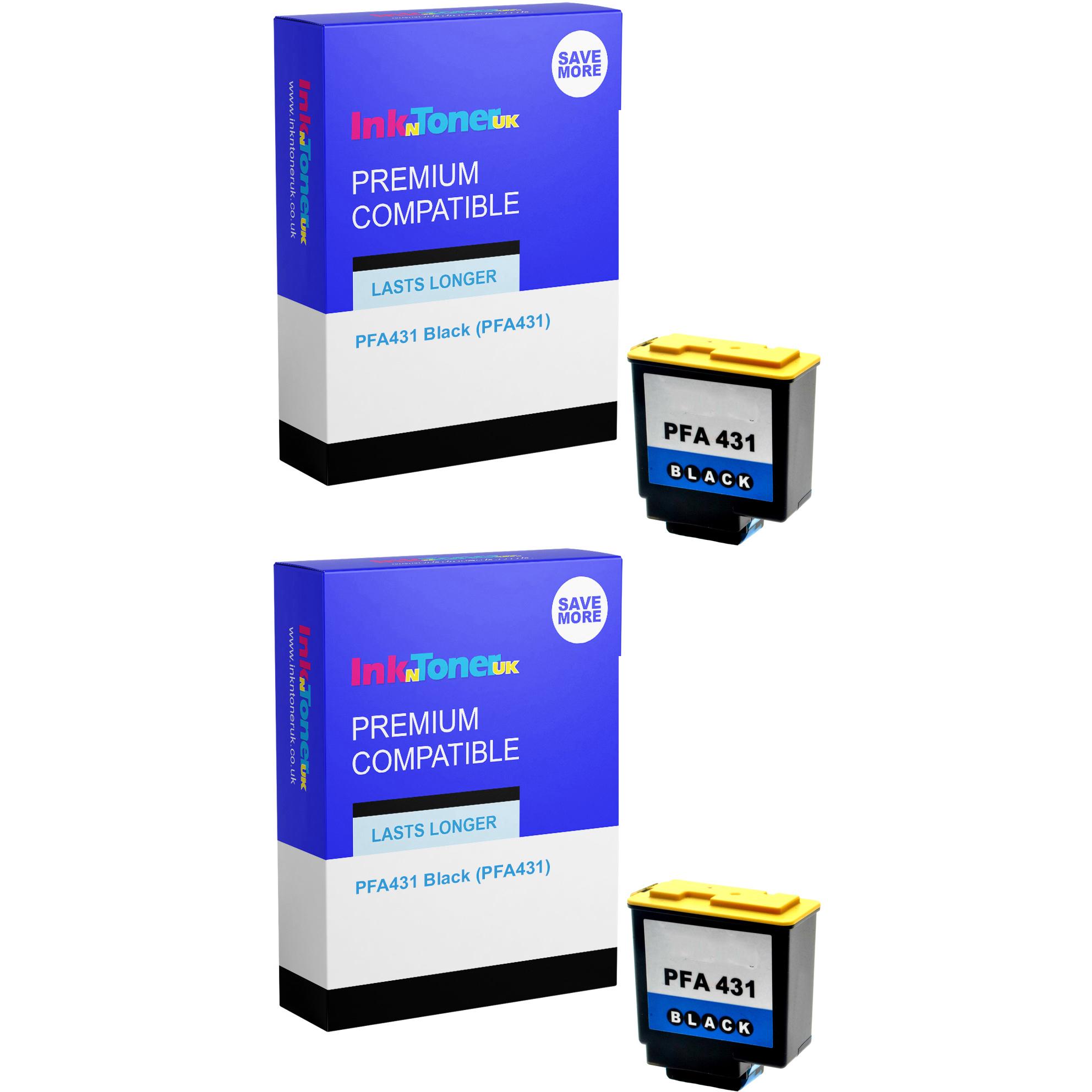 Premium Compatible Philips PFA431 Black Twin Pack Ink Cartridges (PFA431)