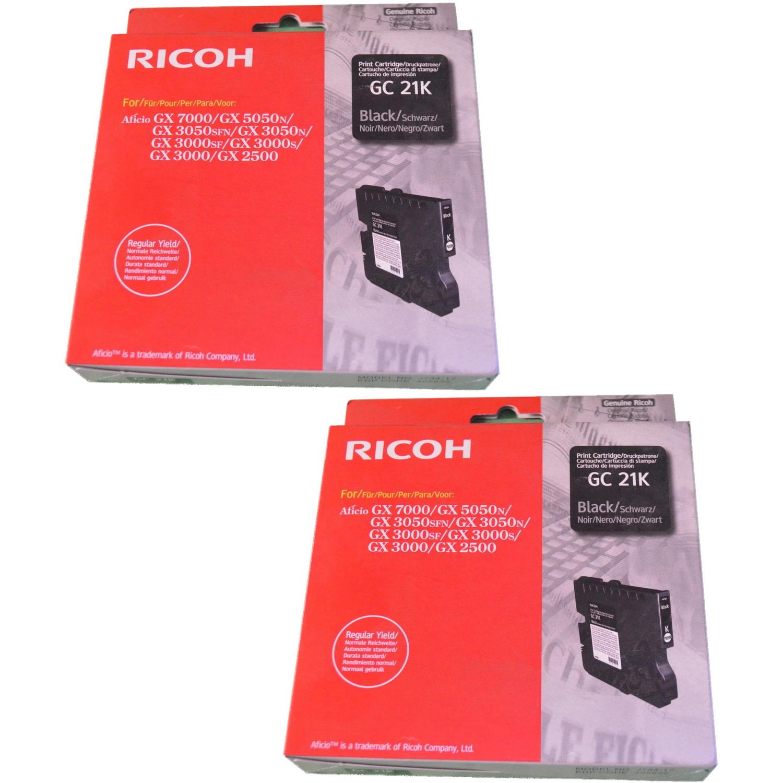Original Ricoh GC21K Black Twin Pack Gel Ink Cartridges (405532/405540)