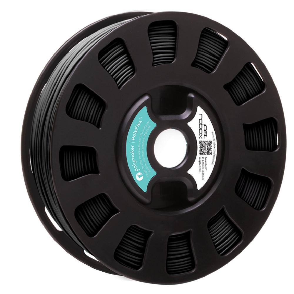 Original Robox Flexible PolyFlex TPU Black 0 4kg 1 75mm 3D Filament  (RLH-TPU-PMBK1)