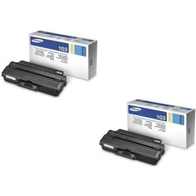Original Samsung MLT-D103L Black Twin Pack High Capacity Toner Cartridges (HP SU716A)