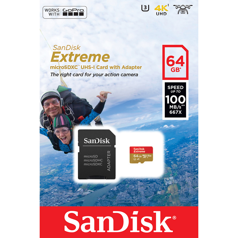 Original Sandisk Class 10 64GB MicroSDXC Memory Card  (SDSQXAF064GGN6AA)