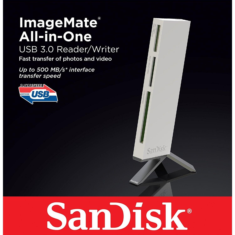 Original SanDisk SDDR-289-X20 ImageMate All-in-One USB 3.0 Card Reader (SDDR-289-X20)