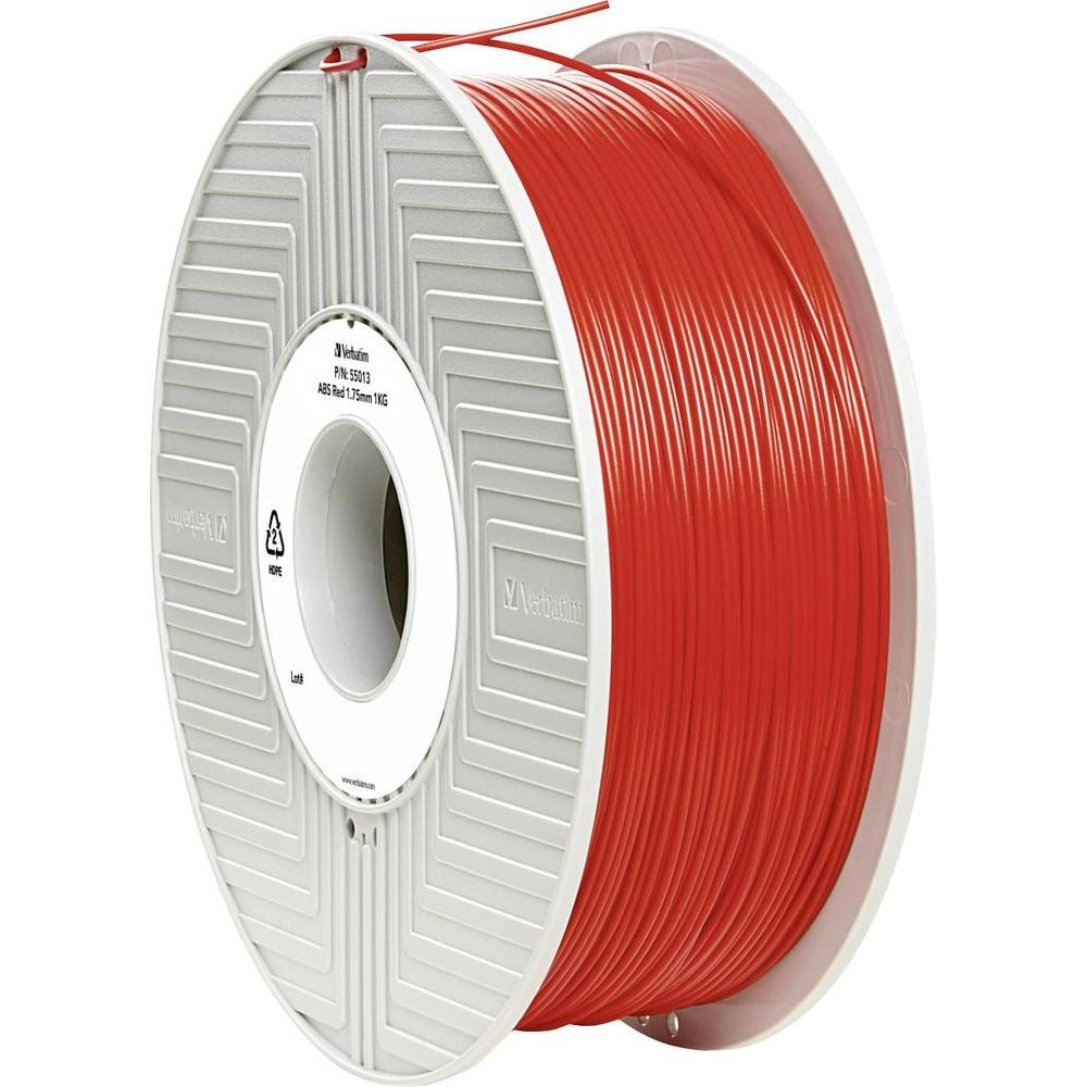 Original Verbatim Red 1.75mm 1kg ABS 3D Filament (55013)