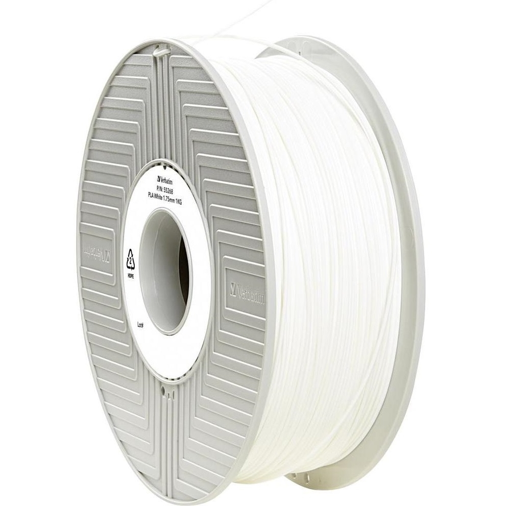 Original Verbatim White 1.75mm 1kg PLA 3D Filament (55268)