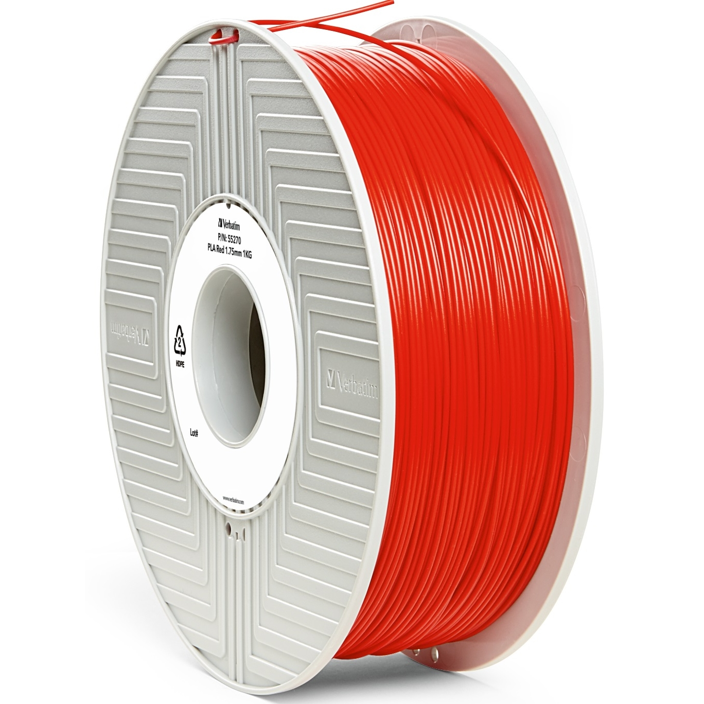 Original Verbatim Red 1.75mm 1kg PLA 3D Filament (55270)