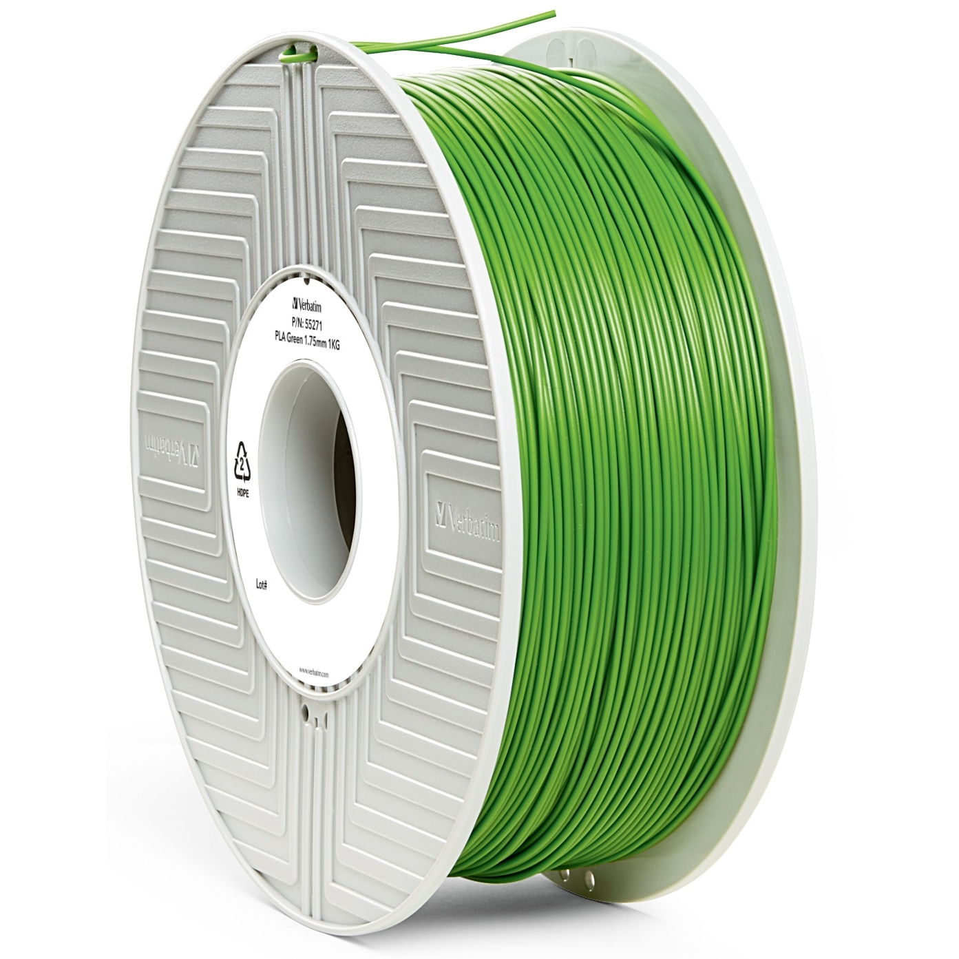 Original Verbatim Green 1.75mm 1kg PLA 3D Filament (55271)