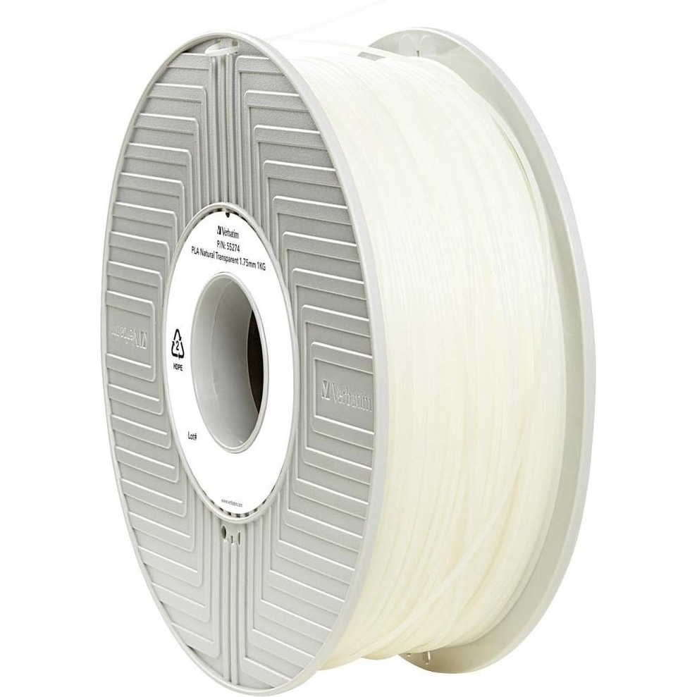 Original Verbatim Natural Transparent 1.75mm 1kg PLA 3D Filament (55274)