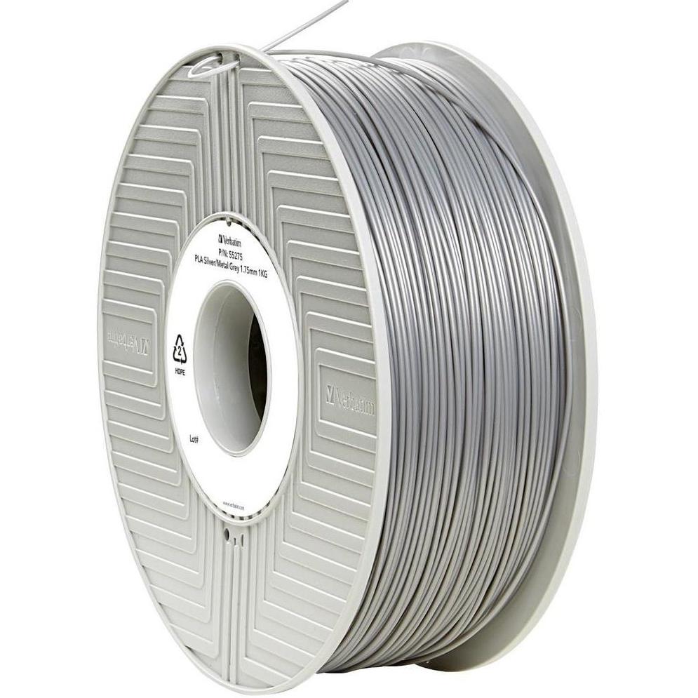 Original Verbatim Silver 1.75mm 1kg PLA 3D Filament (55275)